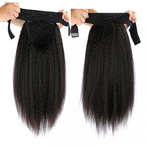Brazilian Kinky Straight Hair Headband Wigs