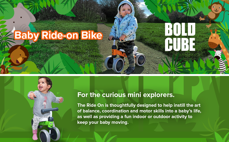 baby balance bike trike ride on boldcube bammax first bike first birthday gift
