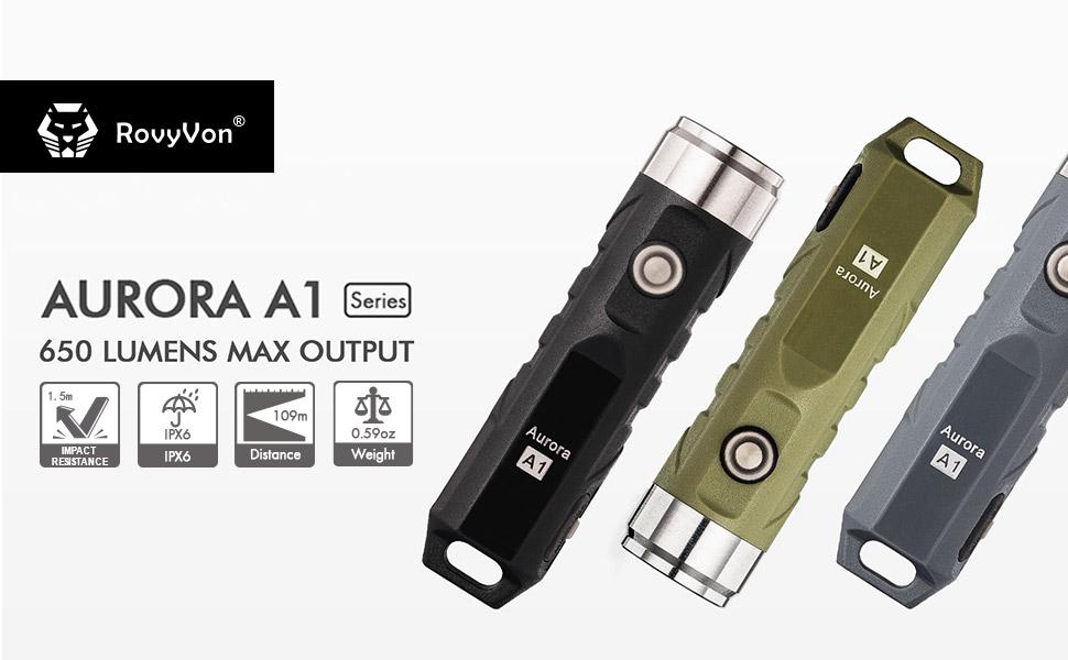 6500K Aurora A3 Pro 7075 Aluminum Keychain Flashlight