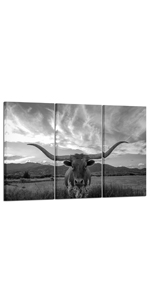 cow canvas wall art 3 Piece Canvas Wall Art living room wall pictures office wall