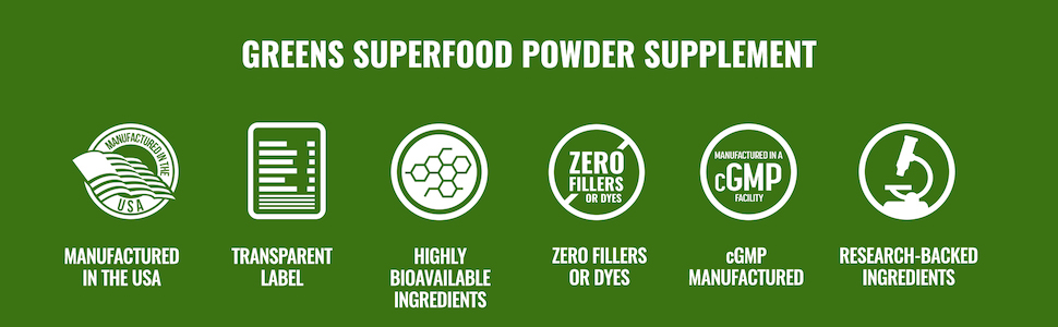 Greens Superfood Powder Supplement