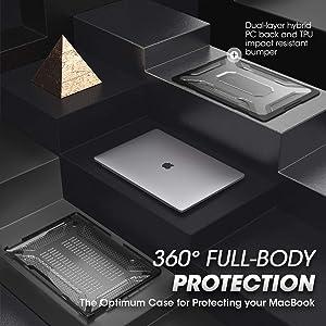SUPCASE Unicorn Beetle Clear Case for MacBook Pro 16 inch A2141 (2019 Release) Slim TPU Bumper