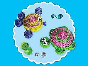 Spyrosity 3D Crinkle Paper Crafts Creations Art and Craft Activity Sets