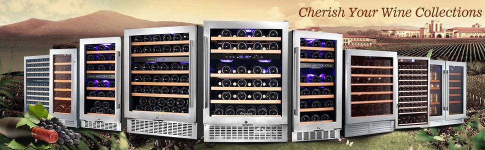 dual zone wine cooler built in freestanding