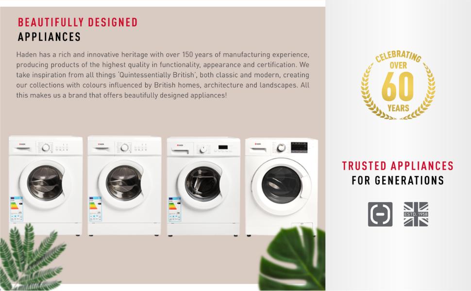 Haden Major Domestic Appliances Washing Machines