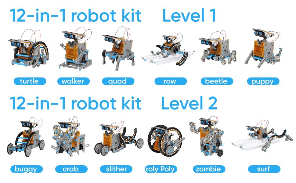Sillbird STEM 12-in-1 Education Solar Robot Toys -190 ...