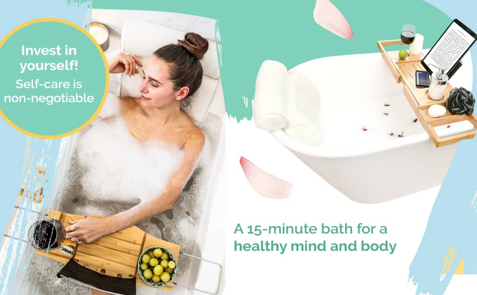 Bubble Bath Pillow for Tub - At Home Spa Pillow and Self-Care Gifts for Women
