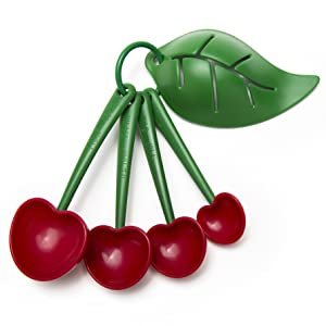 Mon Cherry Mon Cherry Measuring Spoons and Egg Separator by Ototo