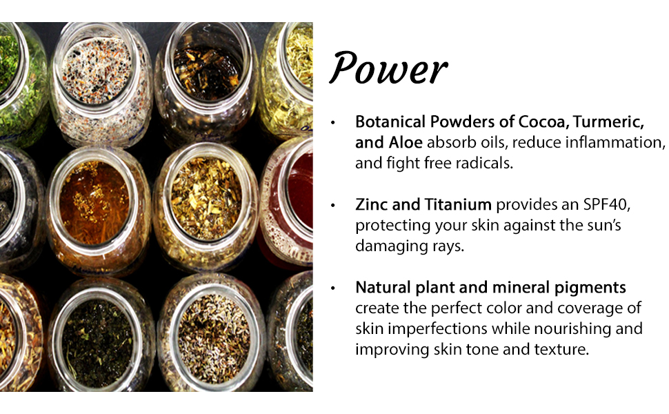 cocoa, turmeric, aloe, zinc, titanium, allantoin, vitamin b3, kaolin clay, mineral pigments