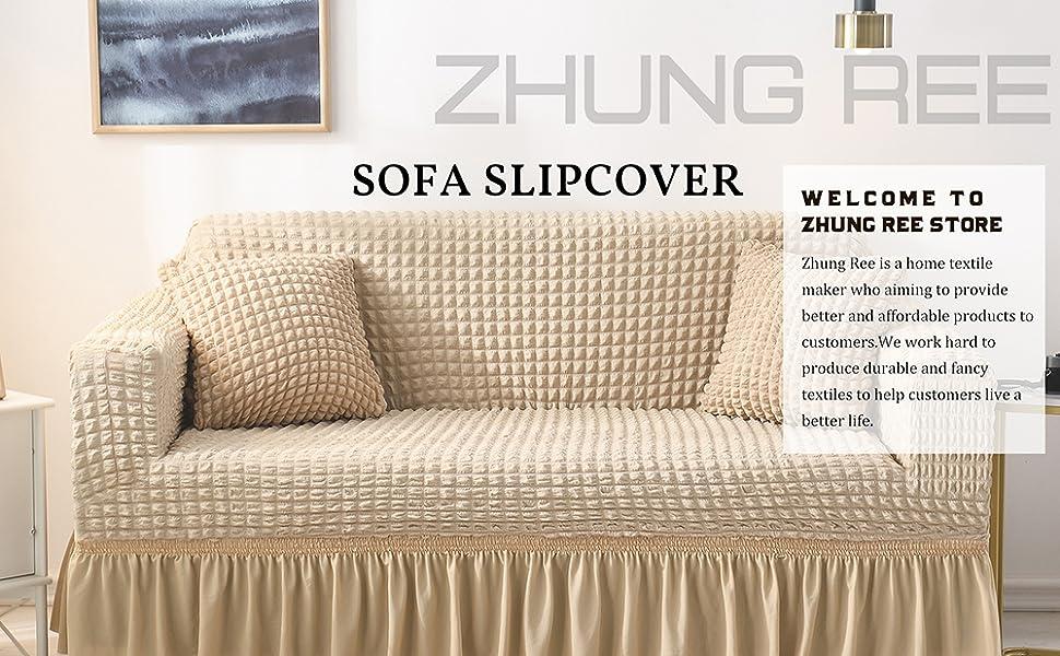 Zhung Ree sofa slipcover