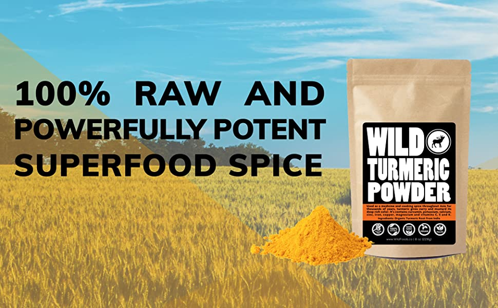 Raw Turmeric Powder, Made From Naturally Grown Turmeric Root, Contains  Curcumin, Single-origin, 100%