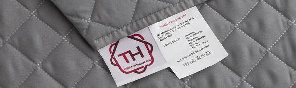 Textilhome - Funda Cubre Sofá Malu -1 Plaza - Relax - Protector para Sofás Acolchado Reversible. Color Marrón C/2