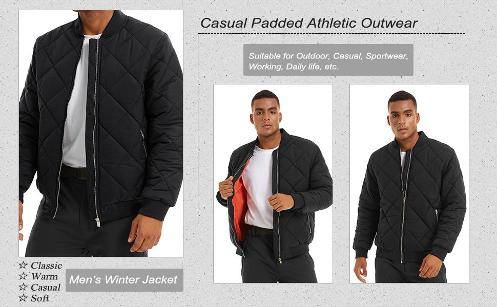 active jackets for men slim fit cotton varsity coat with zipper pocket red men's athletic jackets