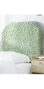furry feather pastel green colorful plush fashion dorm decor
