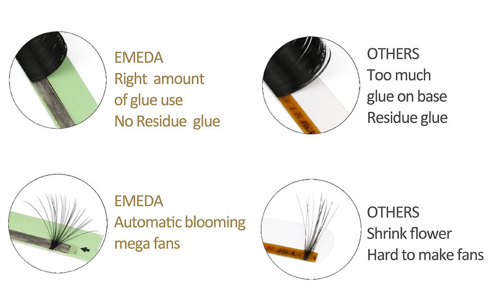emeda easy fan volume lashes