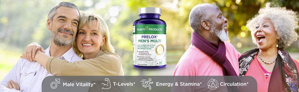 prelox mens multi purity products men perfect multivitamin sexual health 50 plus 50+ l-arginine