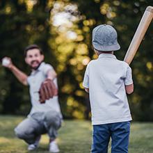 Back yard baseball softball practice net