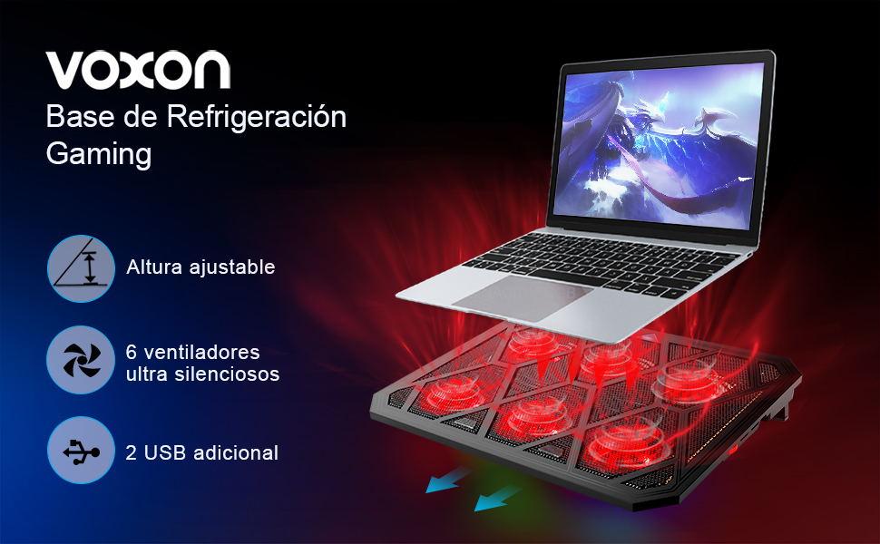 VOXON - Base de Refrigeración Gaming para Portátil con 6 ...