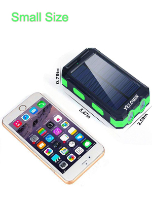 Solar battery has the small size which can make it easy for you to travel