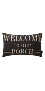 Trendin Welcome to Our Porch Pillow Cover