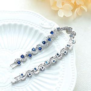 womens crystal bracelet 18K