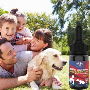 Family and dog with hemp oil