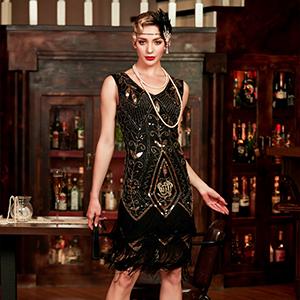 1920s Vintage Flapper Dress