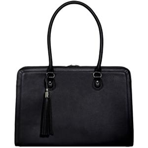 Lindsay Leather Black Laptop Bag