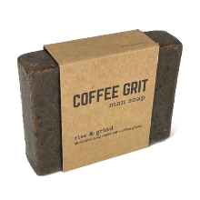 all natural soap for men coffee grit soap