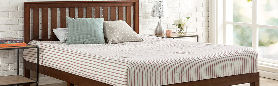 Zinus PWPBBHE Timber Solid Wood Bed Frame Base Mattress Foundation Australia Online Cheap