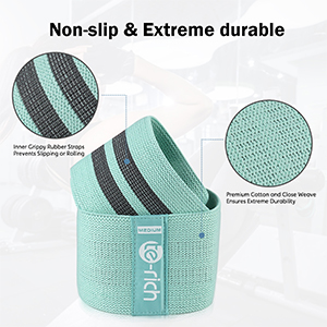 cotton material exercise bands with strong grips