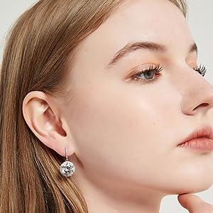 s925 silver cz earrings for women girls bridal