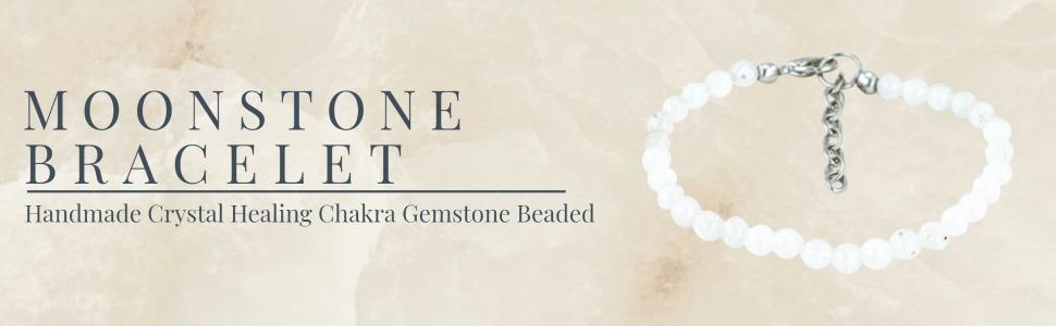 Mystic Self White Moonstone Bracelet Fashion Jewelry Gemstone Beaded Crystal Healing Birthstone