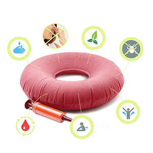 AidShunN - Cojín hinchable para anillos de grado médico con bomba ...