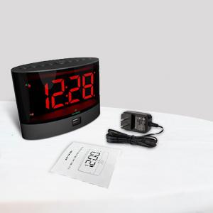 red number alarm clock