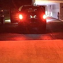 Alla Lighting T20 7440 7443 LED Bulbs Red Strobe Flashing Brake Stop Light