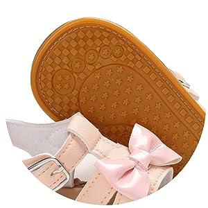 Soft non-slip rubber sole
