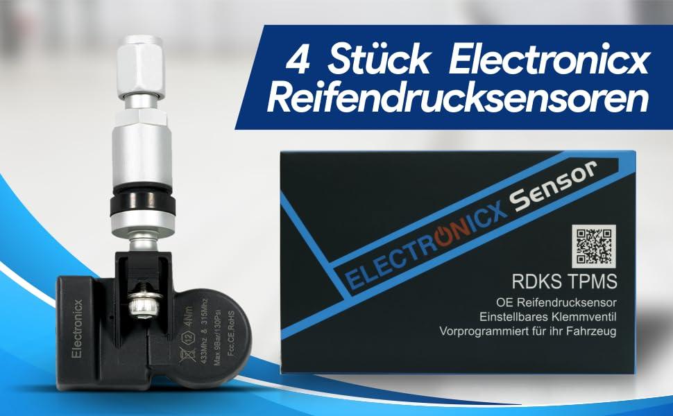 4x Rdks Tpms Reifendrucksensor Reifendruckkontrollsystem Metallventil Silber Kompatibel Mit Tesla Model 3 S X 1034602 00 A Auto
