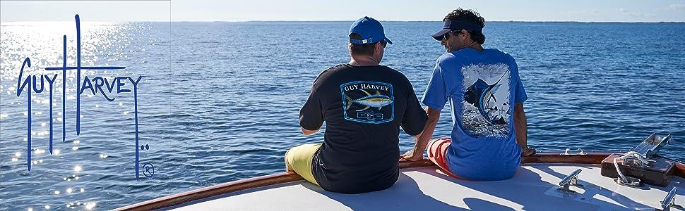 guy harvey, mens apparel, fishing, fishing apparel, t-shirts, sun protection tops