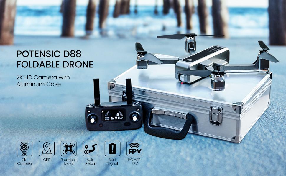 D88 foldable drone