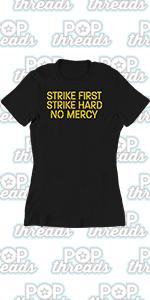 Cobra Kai Karate Kid Merchandise Retro No Mercy Graphic Tee T Shirt for Women
