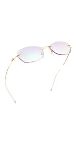 LifeArt blue light blocking glasses diamond reimless frame women