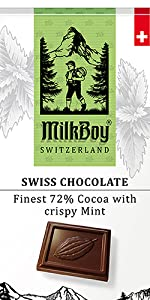 72% Cocoa with Crispy Mint