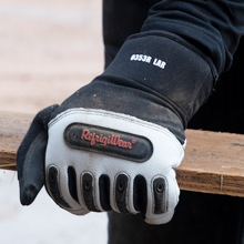 seal out drafts and stay warm with  Ergo Goatskin Glove's neoprene cuffs