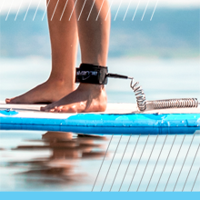 Coiled Ankle Leash Paddle Board paddleboarding SUP Leashes Save Lives