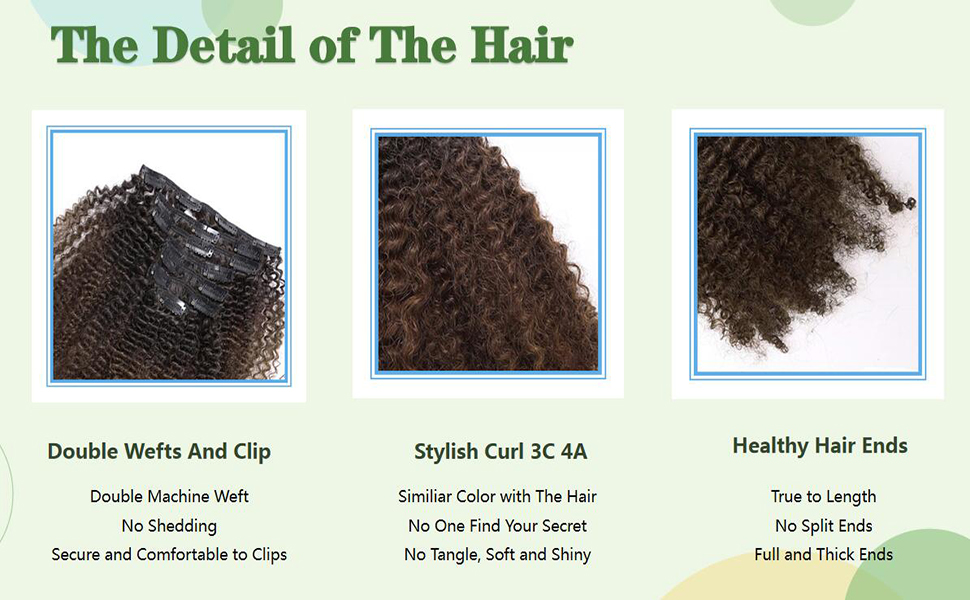 clip in hair extenions #1b