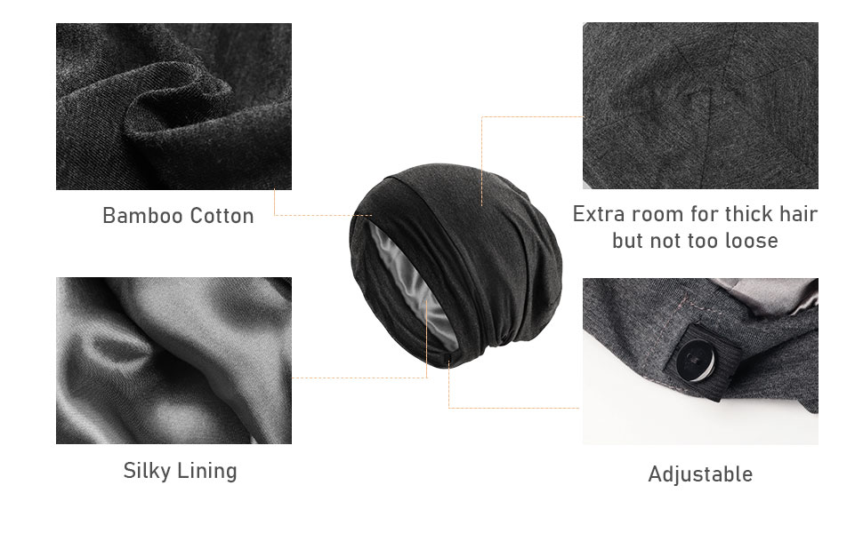 Satin Silk Bonnet Hat