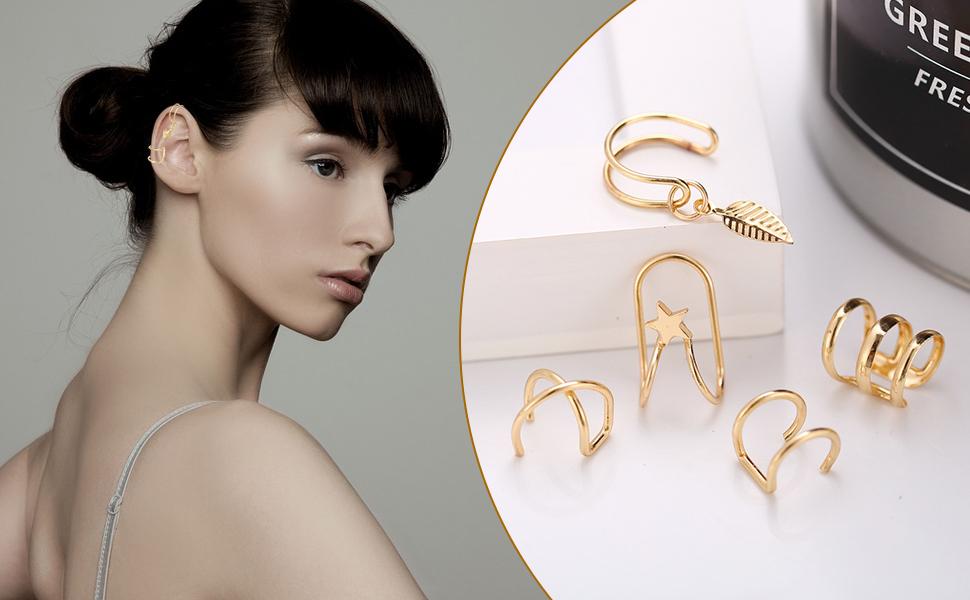 Ear-Cuffs-Earrings-Set