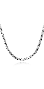 Stainless Steel Solid Thick Chain Necklace