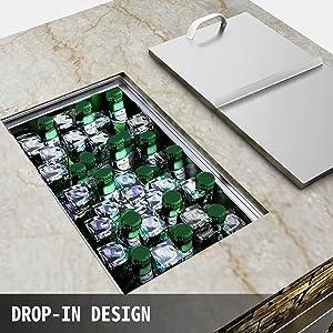 drop in ice bin